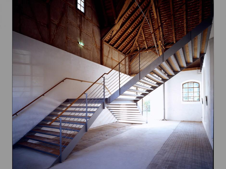 Treppe Wolfgangshof | Christof Popp, Nürnberg | Zirndorf-Anwanden | Graf von Faber Castell´sche Vermögensverwaltung | Umbau, Sonderbau | Dr. Kreutz+Partner - Beratende Ingenieure