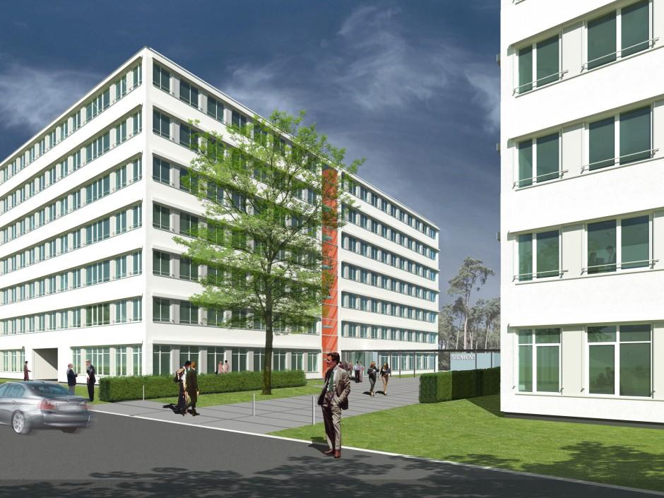 Siemens Bau 82+83   Bisch Architekten, Nürnberg   Erlangen   Siemens Grundstücksgesellschaft KASSIA mbH + Co. KG - Erlangen   Hochbau   Dr. Kreutz+Partner - Beratende Ingenieure