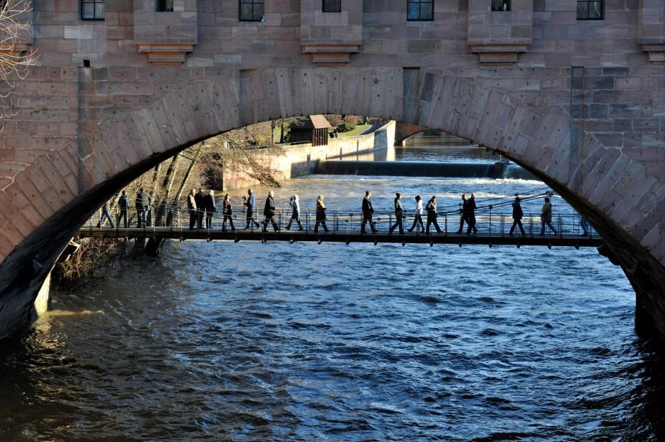 Denkmalgerechte Wiederherstellung des Kettenstegs als Hängebrücke | Dr. Kreutz+Partner, Nürnberg | Nürnberg | Stadt Nürnberg - vertreten durch Servicebetrieb Öffentlicher Raum | Brücken | Dr. Kreutz+Partner - Beratende Ingenieure