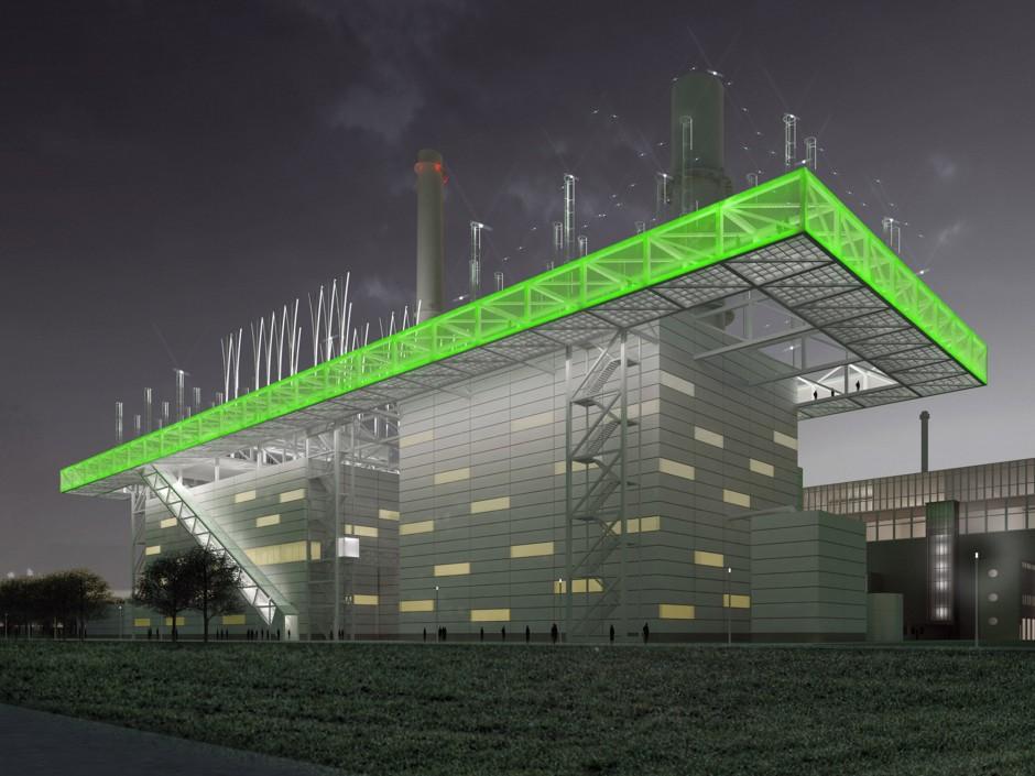 Kraftwerk Lausward | netzwerkarchitekten, Darmstadt | Düsseldorf | Stadtwerke Düsseldorf AG | Wettbewerbe, Industriebau | Dr. Kreutz+Partner - Beratende Ingenieure