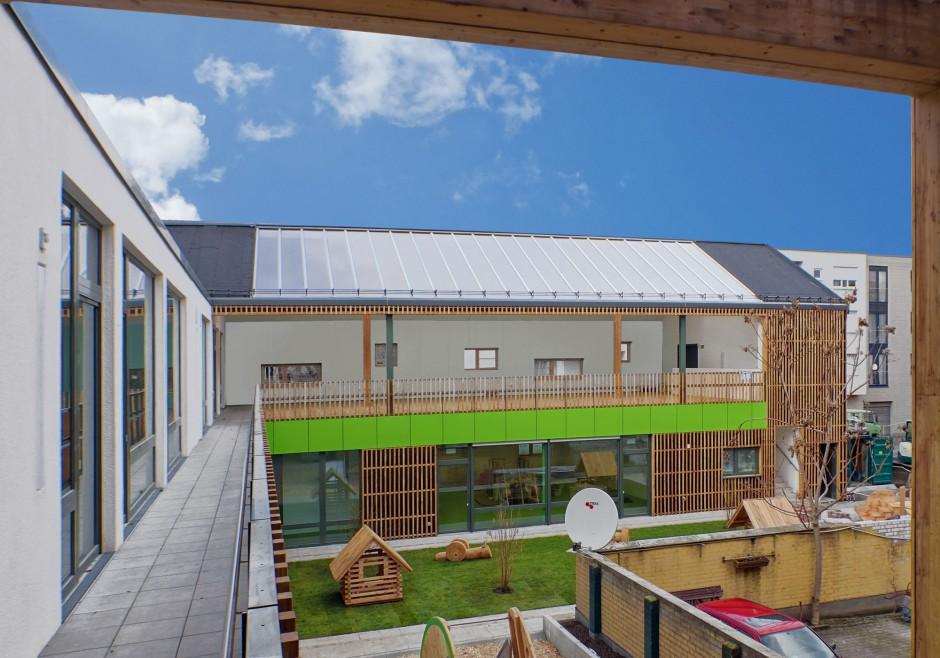 Kindertagesstätte in Mannheim | es+ architekten und ingenieure, Darmstadt | Mannheim | GBG - Mannheimer Wohnungsbaugesellschaft mbH | Hochbau | Dr. Kreutz+Partner - Beratende Ingenieure