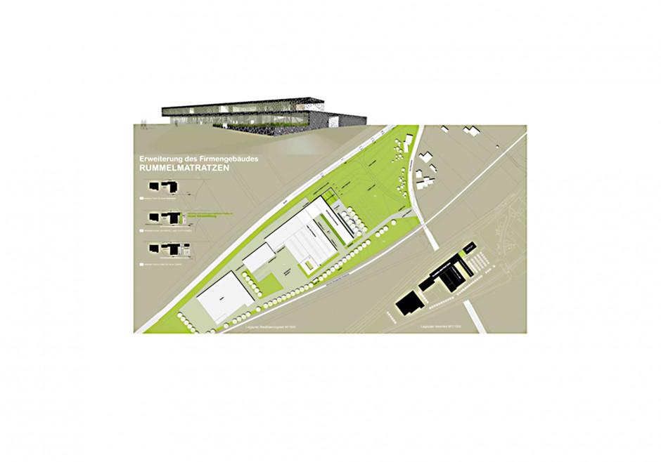 Verwaltung und Produktion Rummel Matratzen | raum3 architekten, Nürnberg | Neustadt/Aisch | Ruco Rummel, Neustadt/Aisch | Wettbewerbe, Hochbau | Dr. Kreutz+Partner - Beratende Ingenieure