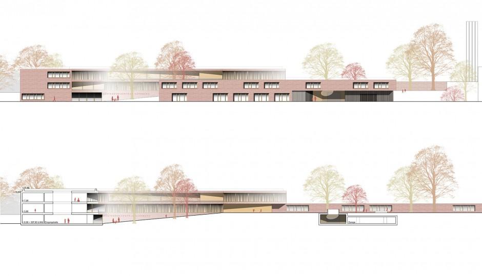 Erweiterung MONTESSORI Zentrum | Diezinger Architekten, Regensburg | Nürnberg | MONTESSORI Förderkreis Nürnberg e.V. | Wettbewerbe, Hochbau | Dr. Kreutz+Partner - Beratende Ingenieure