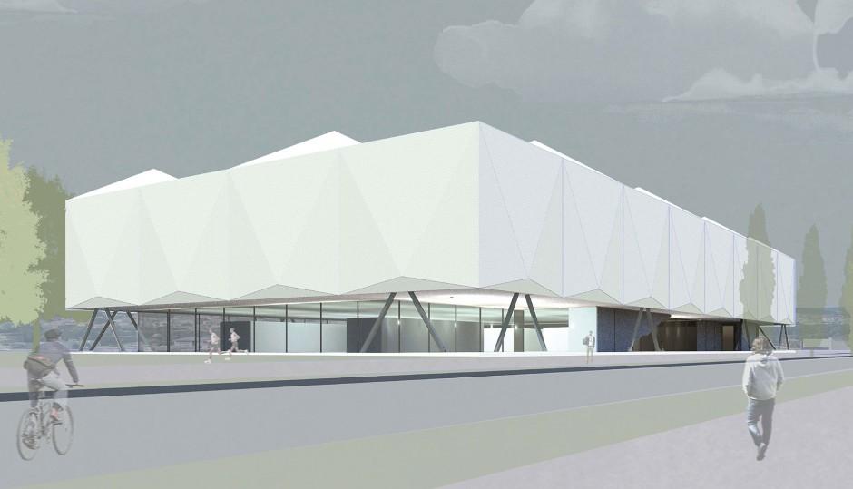 Leichtathletikhalle und Hallenbad | Benkert Schäfer Architekten, München | Regensburg | Das Stadtwerk Regensburg GmbH | Wettbewerbe | Dr. Kreutz+Partner - Beratende Ingenieure